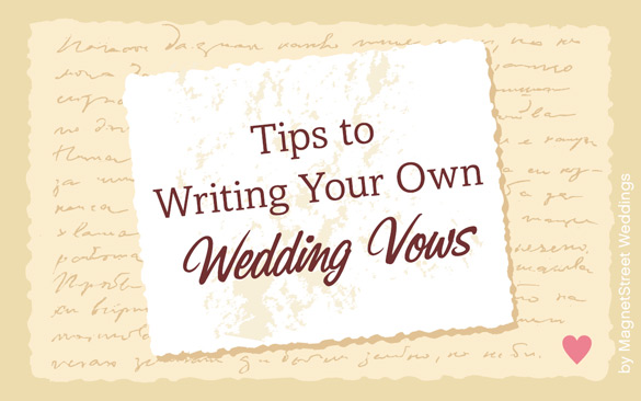 How To Write Your Own Personal Wedding Vows